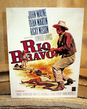 "John Wayne ""Rio Bravo"" Western Tabletop Display Movie Poster Standee 11"" Tall"
