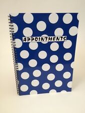 4 Column Appointment Book - Salons, Spas, Health Clubs, Clinics etc (Blue Polka)
