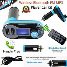 Bluetooth2.1 Car Kit MP3 Player FM Transmitter SD LCD Dual USB Charger +Remote