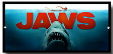 JAWS METAL SIGN, FILM, ICONIC FILM, SHARKS, MOVIE,POSTER,WALL ART