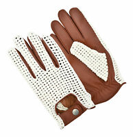 NEW MEN'S DRESS GLOVES DRIVING CHAUFFEUR LEATHER FASHION CLASSIC VINTAGE RETRO