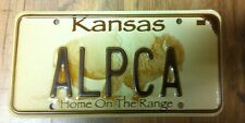 "Kansas Vanity ""ALPCA"" License Plate"