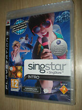GIOCO PS3 PLAYSTATION 3 SINGSTAR + SINGSTORE INTRO SIGILLATO VERSIONE ITALIANA