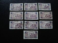 MAROC - timbre yvert et tellier n° 126 x10 obl (A29) stamp morocco (T)
