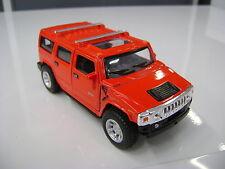2008 Hummer H2 SUV rouge kinsmart Jouet miniature 1/40 echelle Voiture cadeau