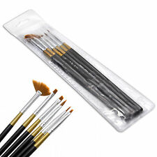 6pcs Black UV Gel Nail Art Design Painting Sable Brush Pen Tool Set NB0005