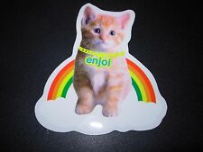 "ENJOI Skate Rainbow Cat Sticker 3.5 X 4"" great for skateboards helmets decal"