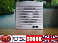 """4"""" Bathroom Kitchen Toilet wall ceiling Shower Extractor Fan Low Energy 100mm"""