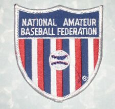 "National Amateur Baseball Federation Patch - 3"" x 3 1/4"""