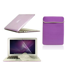 "4 in1 Crystal PURPLE Case for Macbook Air 11"" + Keyboard Cover + LCD Screen+ Bag"