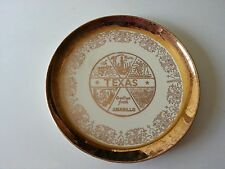Vintage AMARILLO TEXAS SOUVENIR PLATE GOLD GUILDED NICE!! MID CENTURY MODERN