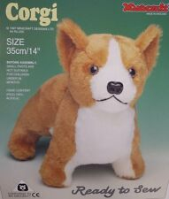 Corgi Dog Soft Toy Kit - Make Your Own Puppy - Cuddly Fur  - Gift Children Sew