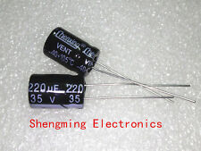 100pcs 220uF 35V 105°C Electrolytic Capacitor 35V 220UF 8x12mm