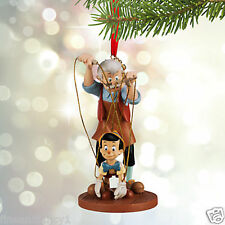 """Disney Ornament Pinocchio &  Geppetto Sketchbook  """"You gotta pull Strings""""  2015"""
