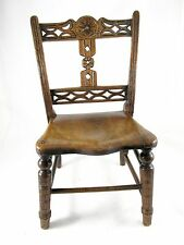 RARE CHILDS ENGLISH ELM PROVINCIAL CHAIR C 1850'S