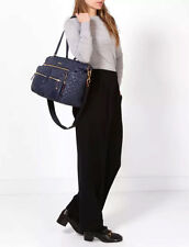 NWT Mz Wallace Quilted XL Crosby Travel Quilted Duffle Tote Dawn Oxford