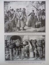 1916 GERMAN TREATMENT OF FRENCH & BELGIAN CIVILIANS FORCED INTO LABOUR WWI WW1