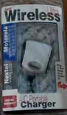 Just Wireless AC Portable Charger MOTOROLA / NEXTEL BRAND NEW IN PACKAGE