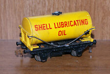 Hornby Dublo OO Gauge SHELL Lubricating Oil Tanker Yellow Wagon (D34)