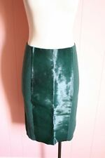 JCrew Pony Pencil Skirt S Small Collection Calf Hair Merino Wool Dark Green $430