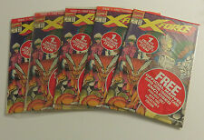 X-FORCE #1 (5) SET W/TRADING CARDS SEALED POLYBAGS DEADPOOL CABLE AND MORE