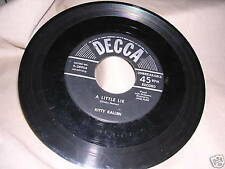 Kitty Kallen A Little Lie and Are You Looking for a Sweetheart? Decca Records VG