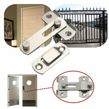 New Stainless Steel Home Safety Gate Door Bolt Latch Slide Lock Hardware+Screw