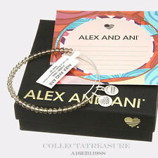 Authentic Alex and Ani Brilliance Bead, Crescent Moon Shiny Silver Bangle