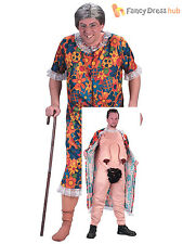 Flasher Old Granny Ladies Mens Fancy Dress Funny Rude Costume Stag Do Outfit