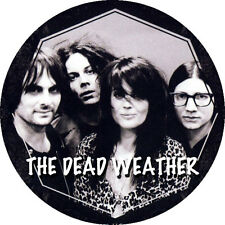 CHAPA/BADGE THE DEAD WEATHER . white stripes killers jack white raconteurs pin