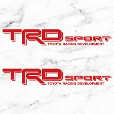 "TOYOTA TACOMA TRD SPORT DECALS STICKERS (2) 18""X3"" DECALS RED"