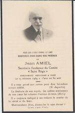 Memento de Jean AMIEL (1882-1964) érudit audois. Bellegarde-du-Razès Carcassonne