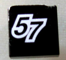 LEGO 3070bpb049 @@ Tile 1 x 1 with Number 57 Pattern (Sticker) - Set 8643