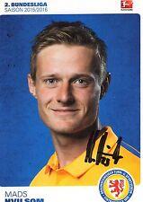 Autogrammkarte Mads Hvilsom, Eintracht braunschweig, Saison 15/16, signiert
