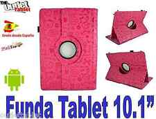 "FUNDA GIRATORIA PARA TABLET SUNSTECH TAB 101 10.1"" AJUSTABLE DIBUJOS FUCSIA"