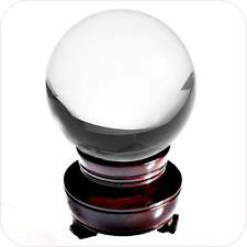 100MM 4 Inch Clear Crystal Ball Collectible Paperweight with Stand