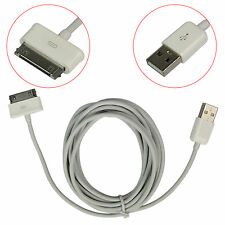 USB Charger Cord Cable For Samsung Galaxy Tab 2 7.0 7.7 8.9 Note 10.1 3M White