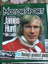CLASSIC AND SPORTSCAR MAGAZINE JAN 1998 JAMES HUNT BY NIKI LAUDA RACING GREAT PH
