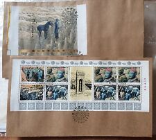 CHINA PRC covers - 1983 Terra-cotta Warriors Booklet stamps on FDCs x2 culture