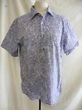 Mens Shirt - GAP, size M, white/navy busy print, cotton, summer, casual - 1664