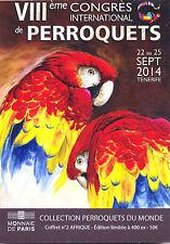 67 WEITBRUCH Encart 6 pièces 8ème Congrès de Perroquets, 2014, Monnaie de Paris