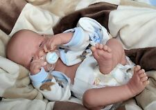 "AWW! BABY BOY ""CUDDLE ME""! Preemie Life Like Reborn Pacifier Doll + Extras"