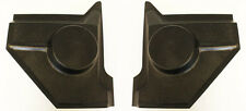 New! 1964-1968 Ford Mustang Kick Panels Pair BLACK Coupe & Fastback for Speaker