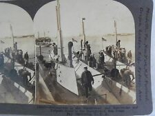 WW1 SAN DIEGO BAY CA. SUBMARINE, BATTLE SHIP TORPEDO BOAT KEYSTONE STEREOVIEW 83