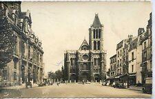 CP 93 SEINE-SAINT-DENIS - Saint-Denis - Place de l'Hôtel de Ville - La Basilique