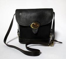 Vintage Dooney & Bourke Black Pebbled Leather Shoulder Cross Body Bag Purse