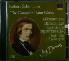 CD ROBERT SCHUMANN - the complete piano works vol. 4, Jörg Demus, neu - ovp