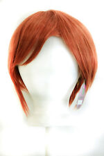 11'' Short Straight Men's Cut with Long Bangs Maple Brown Wig Cosplay NEW