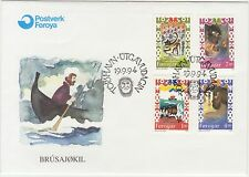 Faroe Islands 1994 Folklore, Fairy Tales, First Day Cover