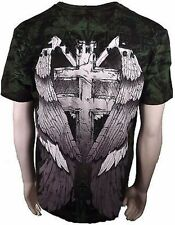 Xzavier Release The Wicked Gravestone Skull Wings Cross Adult Mens T Shirt Xl